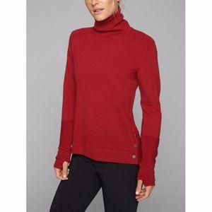 Athleta Red Merino Wool Turtleneck Sweater XXS